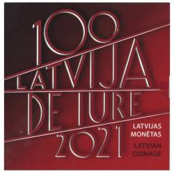 Letland BU-Set 2021 '100 Jaar Erkenning Letland'