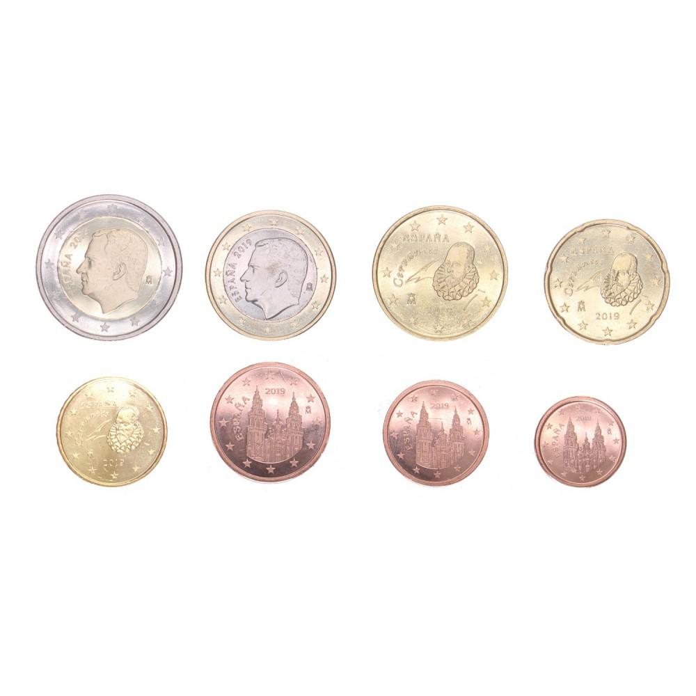 Spanje serie euromunten op jaartal