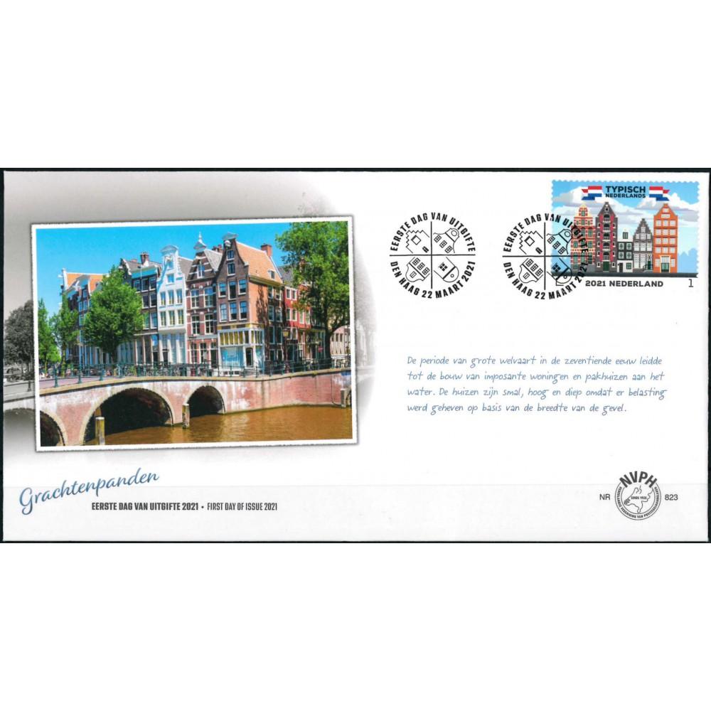 2021 Nederland FDC | Typisch Nederlands - Grachtenpanden