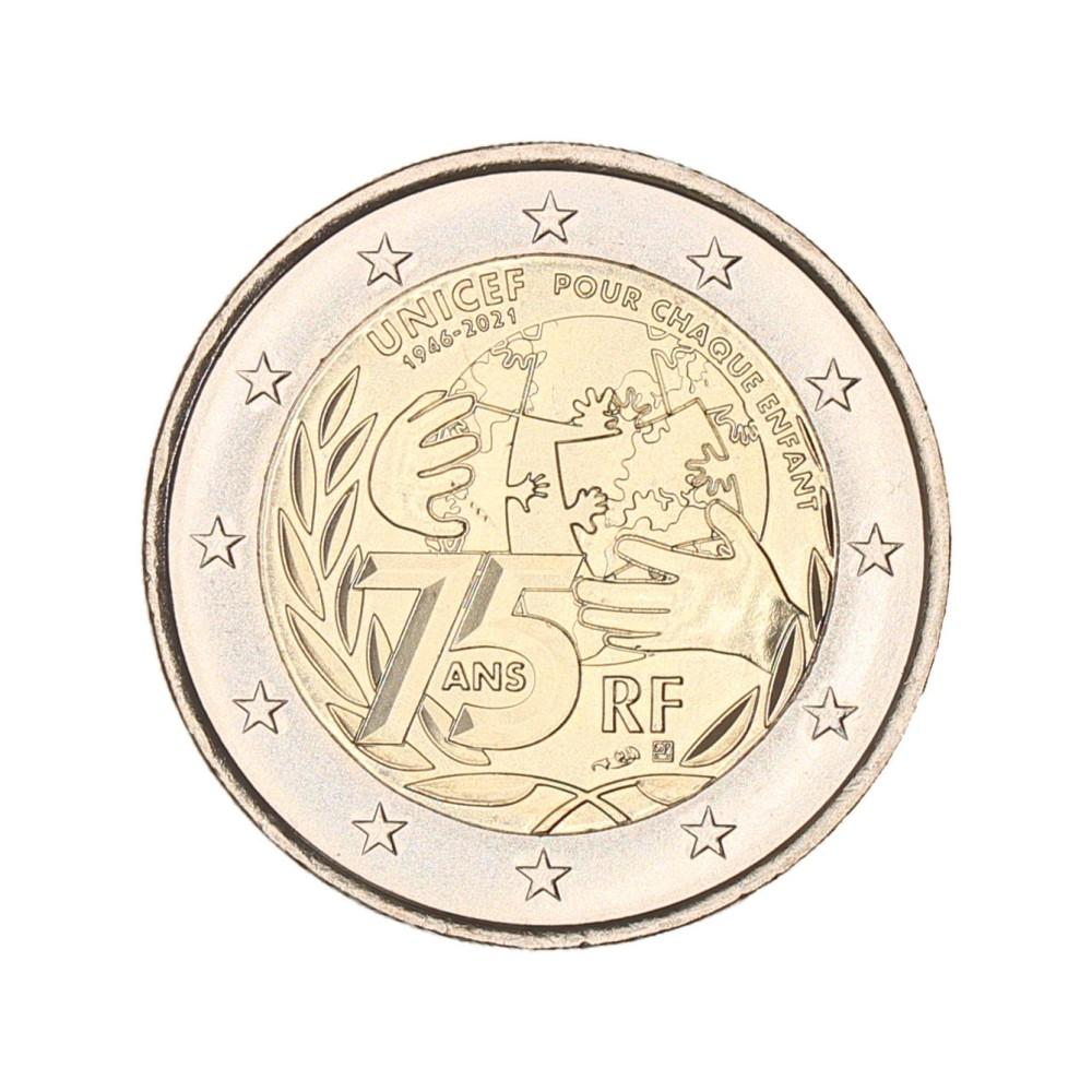 Frankrijk 2 euro 2021 'Unicef'