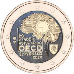 Slowakije 2 euro 2020 'OECD' in kleur