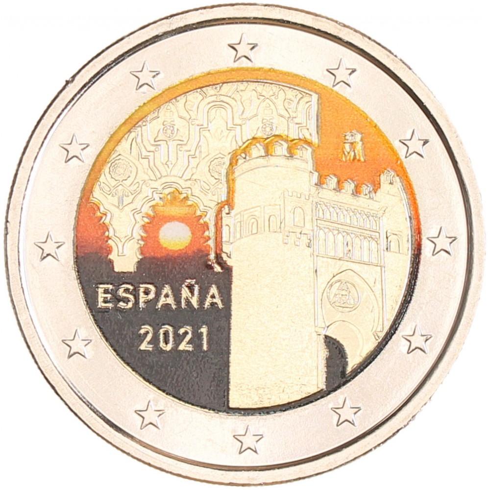 Spanje 2 euro 2021 'Unesco-Toledo' in kleur