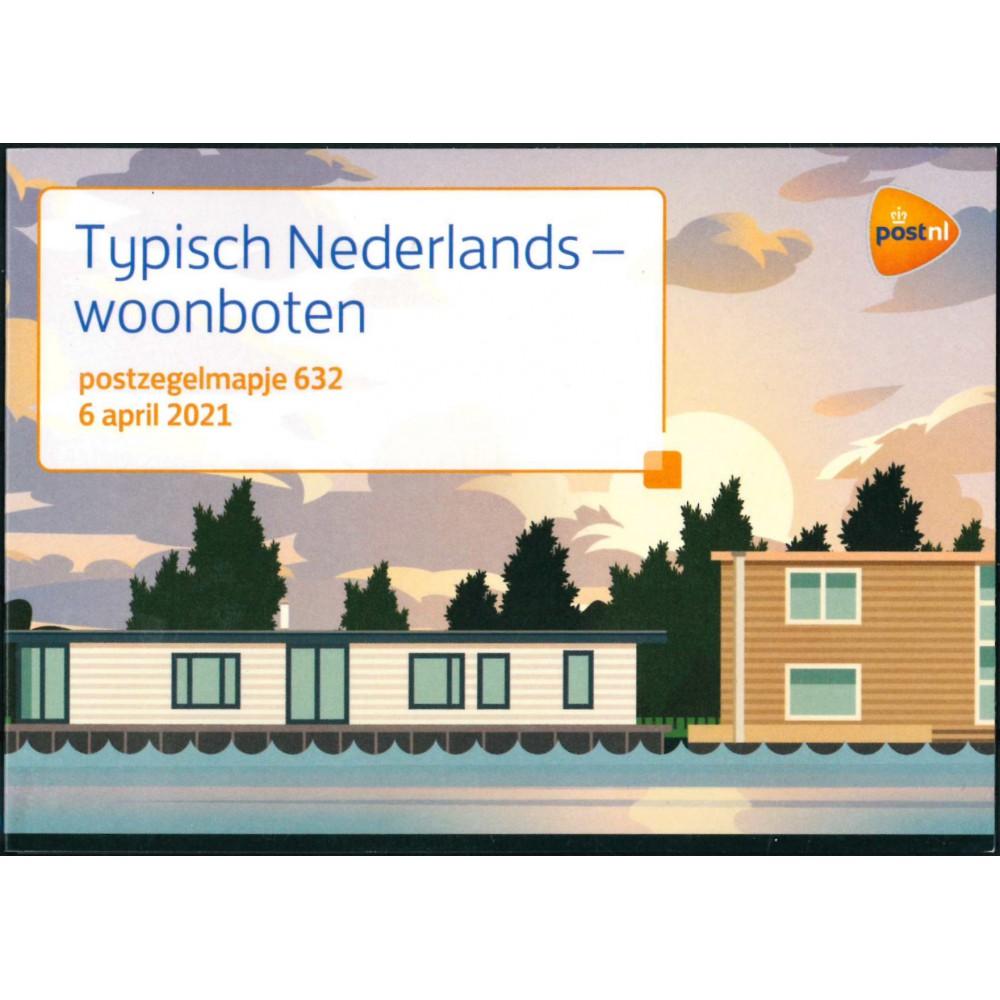 2021 Nederland postzegelmapje | Typisch Nederlands - Woonboten