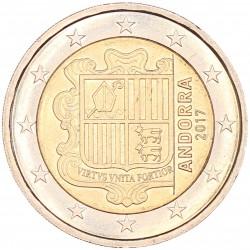 Andorra 2 euro 2017 'Wapen van Andorra' circulatiemunt