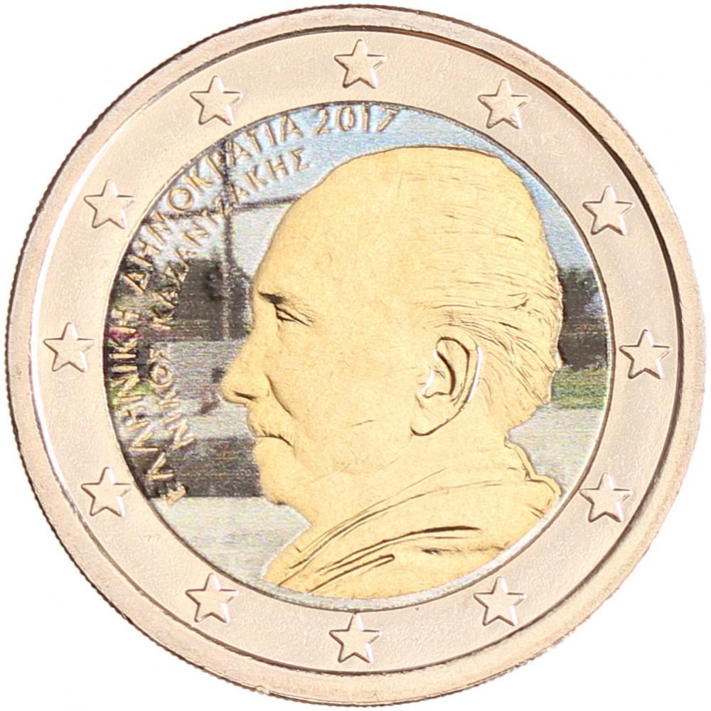 Griekenland 2 euro 2017 'Kazantzakis' in kleur