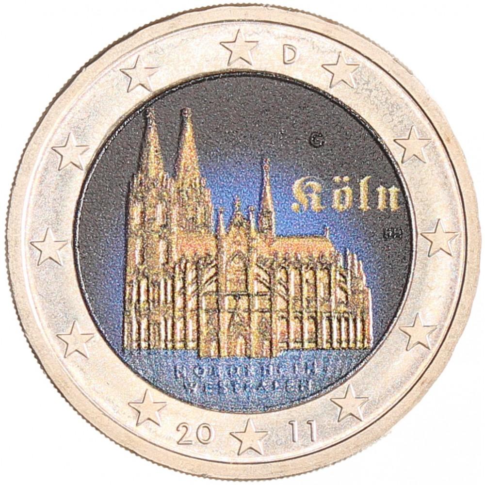 Duitsland 2 euro 2011 'Dom van Keulen' in kleur