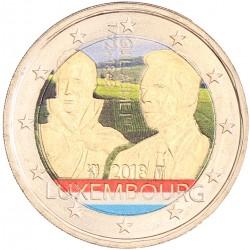 Luxemburg 2 euro 2018 'Willem I' in kleur