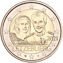Luxemburg 2 euro 2021 '40 jaar huwelijk'