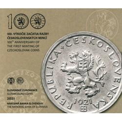 Slowakije BU-set 2021 '100 jaar Tsjechische munten'