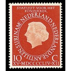 1954 Nederland postzegel | Statuut voor het koninkrijk
