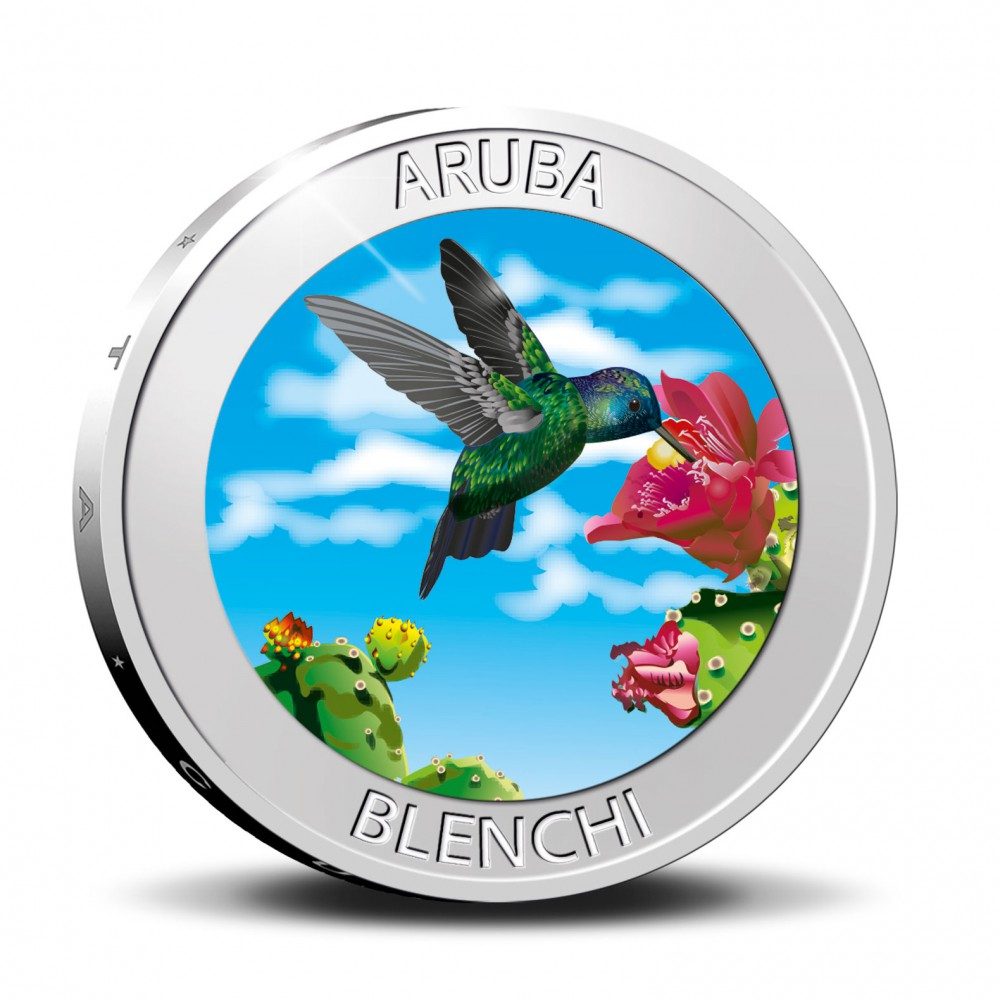 Aruba 5 florin 2020 'Blenchi' Zilver Proof