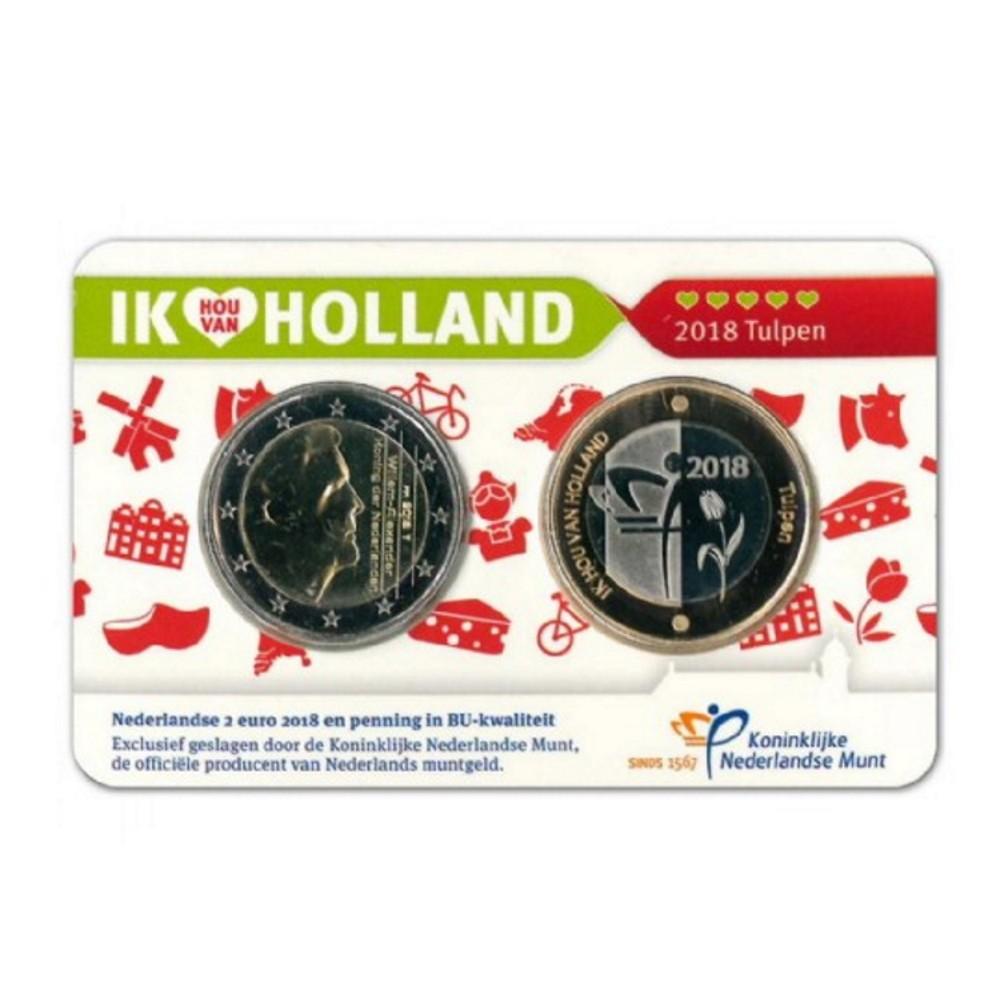 Nederland Holland Coincard 2018 'Deel 5: Tulpen'