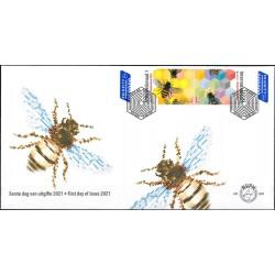2021 Nederland FDC | Bedreigde bijen