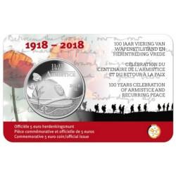 België 5 euro 2018 '100 jaar Wapenstilstand'