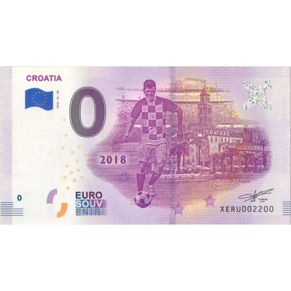 0 euro Kroatië 2018 'Soccer/Diocletian Palace Split'