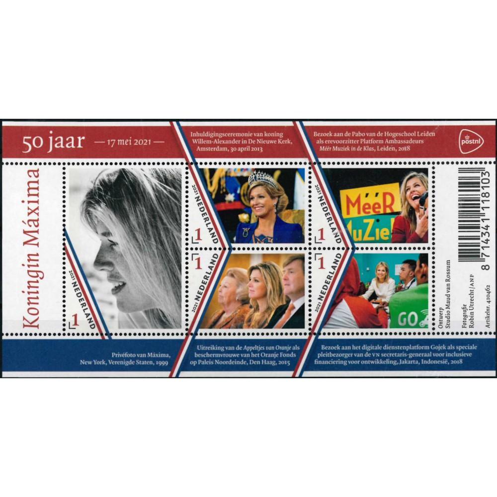 2021 Nederland Blok | Koningin Maxima 50 jaar