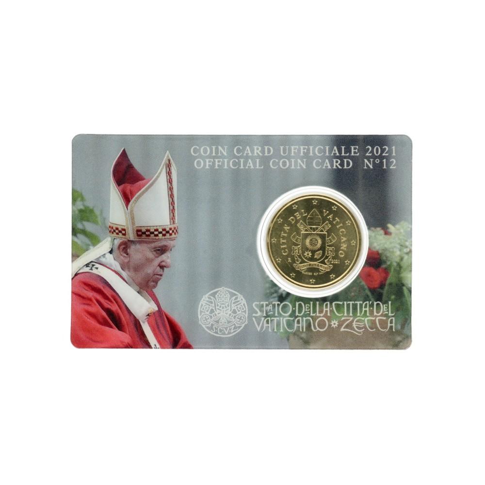 Vaticaan 50 cent 2021 in coincard nr. 12