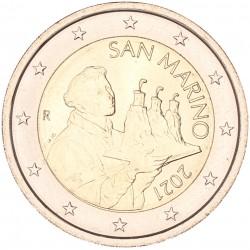 San Marino 2 euro 2021 circulatiemunt