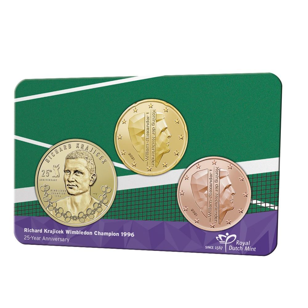 Nederland penning in coincard 2021 'Richard Krajicek'