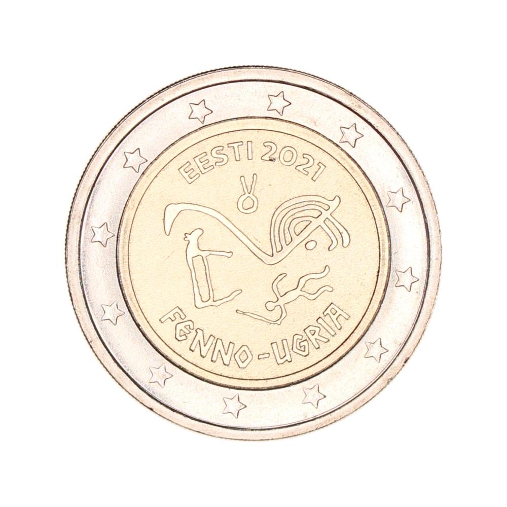 Estland 2 euro 2021 'Fins-Oegrische volkeren'