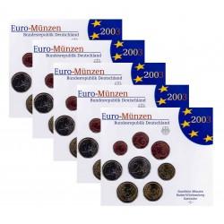 Duitsland 5x BU-Sets 2003 - letters A,D,F,G en J
