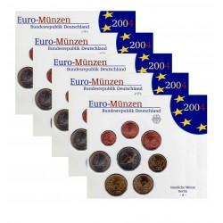 Duitsland 5x BU-Sets 2004 - letters A,D,F,G en J