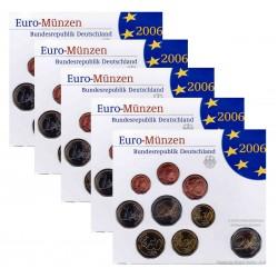 Duitsland 5x BU-Sets 2006 - Met 2 euro 'Holstentor Lubeck', letters A,D,F,G en J