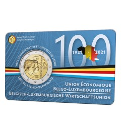 België 2 euro 2021 '100 jaar BLEU'