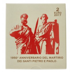 Vaticaan 2 euro 2017 Proof 'Anniversary of the Martyrdom of Saints Peter and Paul'