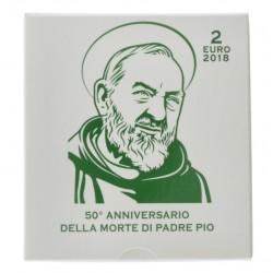 Vaticaan 2 euro 2018 Proof 'Padre Pio'