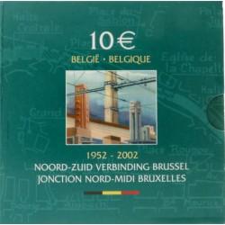 België 10 euro 2002 'Noord-Zuid verbinding Brussel'