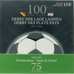 België 10 euro 2005 'Derby der lage landen'