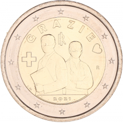 Italië 2 euro 2021 'Grazie'