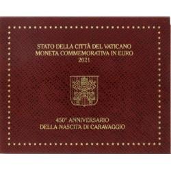 Vaticaan 2 euro 2021 in blister '450 jaar geboorte van Caravaggio'