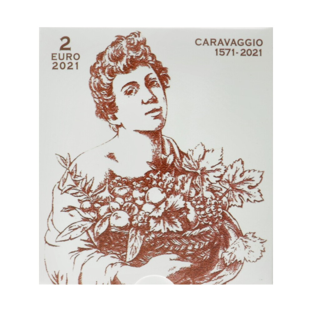 Vaticaan 2 euro 2021 Proof '450 jaar geboorte van Caravaggio'