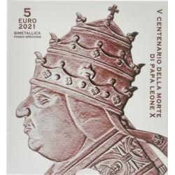 Vaticaan 5 euro 2021 '500e sterfdag van Paus Leone X'