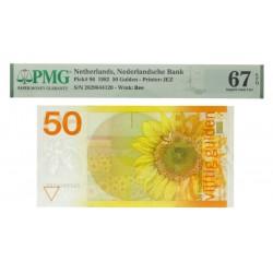 Nederland 50 Gulden 1982 'Zonnebloem' - PMG grading 67