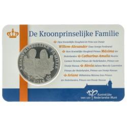 Nederland penning in coincard 2012 'De Kroonprinselijke Familie'