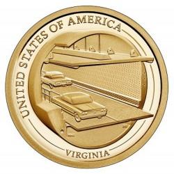 USA $1 Innovation Dollar 2021 'Virginia - The Chesapeake Bay Bridge-tunnel'