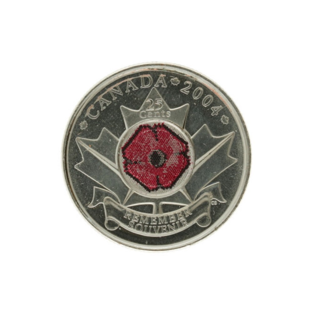 Canada 25 cents 2004 'Remembrance day'