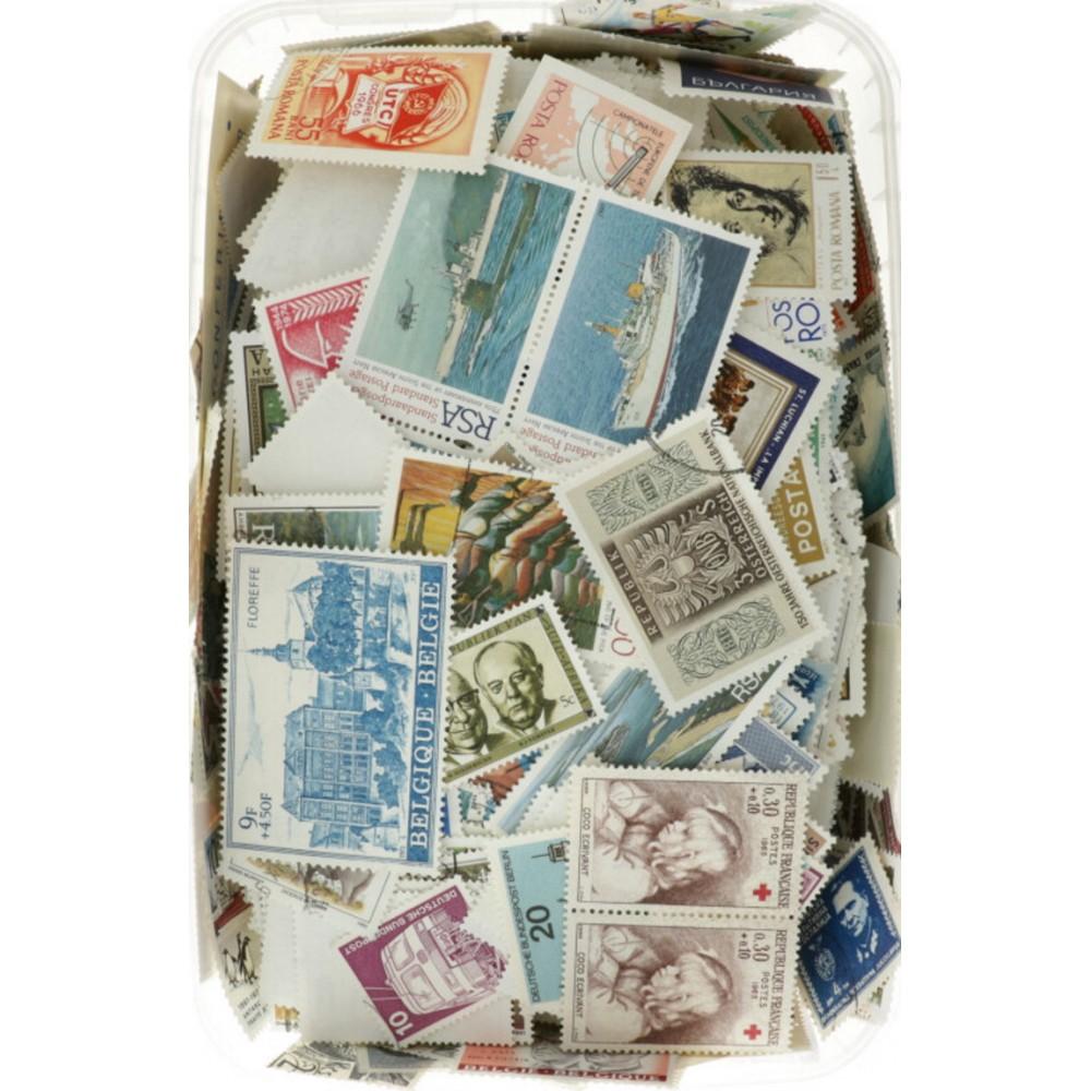 Verzamelpakket afgeweekte Wereld zegels 1 kilo