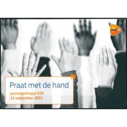 2021 Nederland postzegelmapje| Praat met de hand