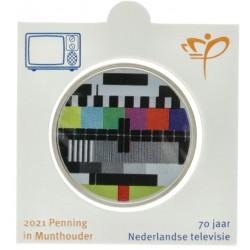 Officiële penning in munthouder 2021 '70 jaar Nederlandse televisie'