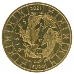 San Marino 5 euro 2021 'Vissen'
