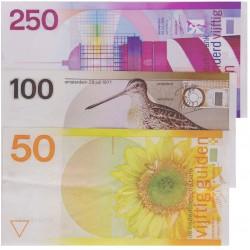 Nederland 50/100/250 1977-1985 'Zonnebloem/Snip/Vuurtoren'