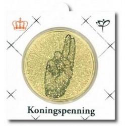 Officiële penning in munthouder 2014 'Koningspenning 1 jaar Koningschap'