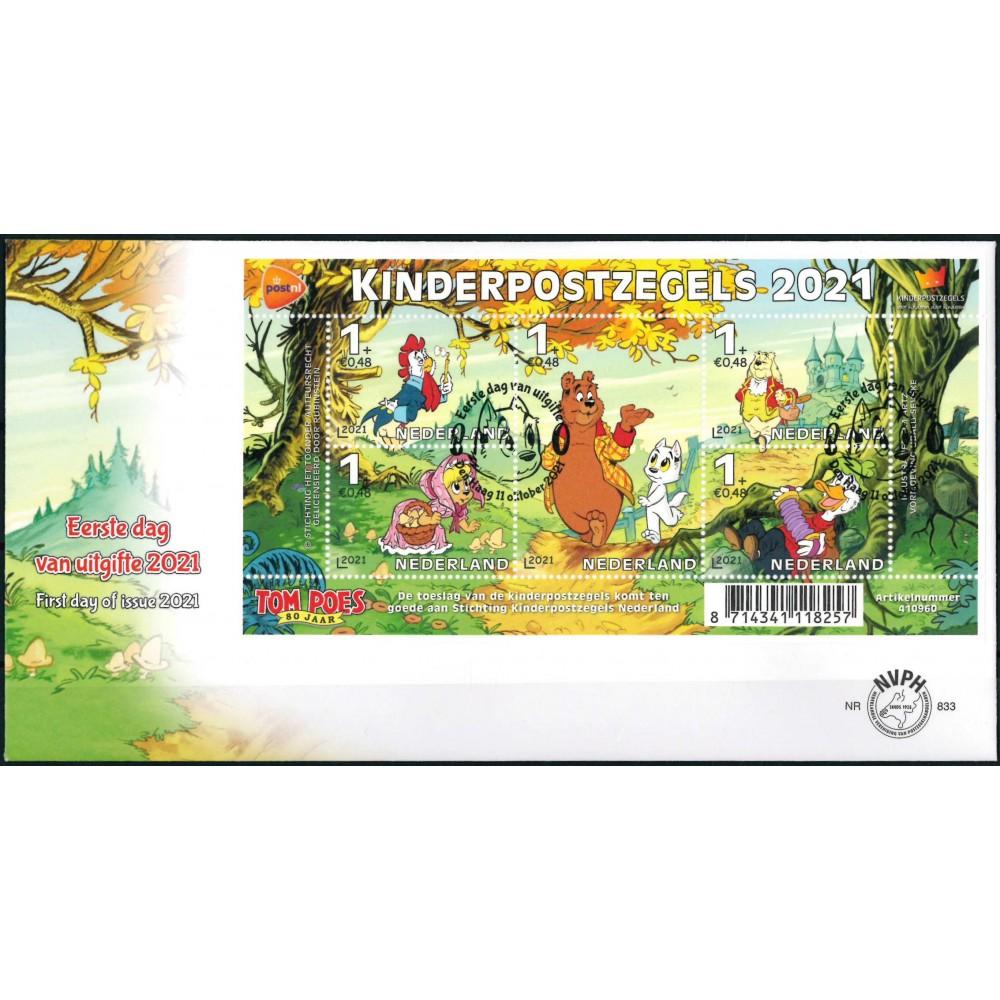 2021 Nederland FDC   Kinderpostzegels