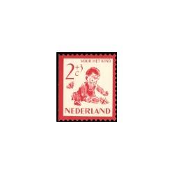 1950 Kinderbedankkaart kinderzegels
