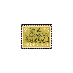 1952 Kinderbedankkaart Kinderzegels