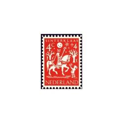 1961 Kinderbedankkaart Kinderzegels